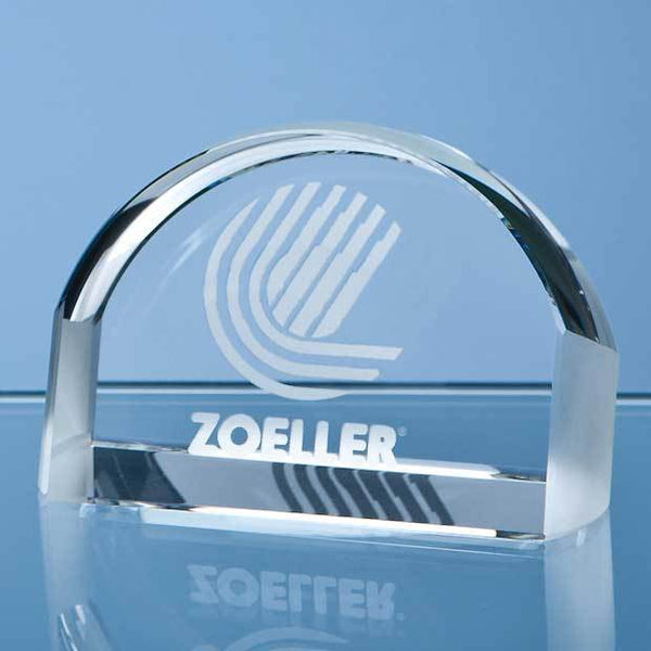 ZT100P -   8cm Optical Crystal Magnifying Paperweight - (Fully Engraved)
