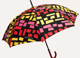 Multi-coloured umbrella - Plinth