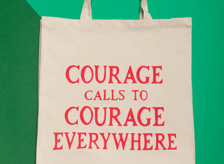 Courage Calls Tote Bag