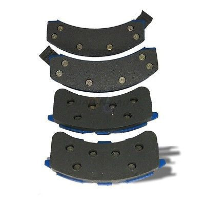 AutoSpecialty 24-262-02 Plus Series REAR Semi-Metallic Shimmed Disc Brake Pads