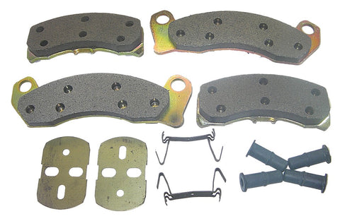 AutoSpecialty 20-499-52 Super Kit Premium Semi-Metallic Brake Pads