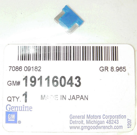 Genuine GM 19116043 OEM 15 Amp Blue Mini-Fuse - Lot of 4