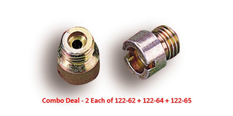 "Holley Jets Combo Deal 2 Each of .061"" + .064"" + .065"" Carburetor Main Jets"