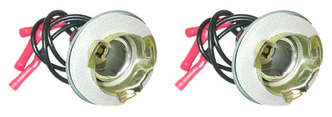 Parts Master 82026 3-Wire Multi-Use Lamp Socket and Pigtail - Ford Type (Qty 2)