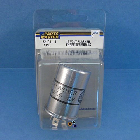 Parts Master 82101 12 Volt No. 550 Flasher 3 Terminals  Made in U.S.A.