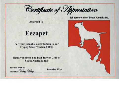 thanks Eezapet BTCSA