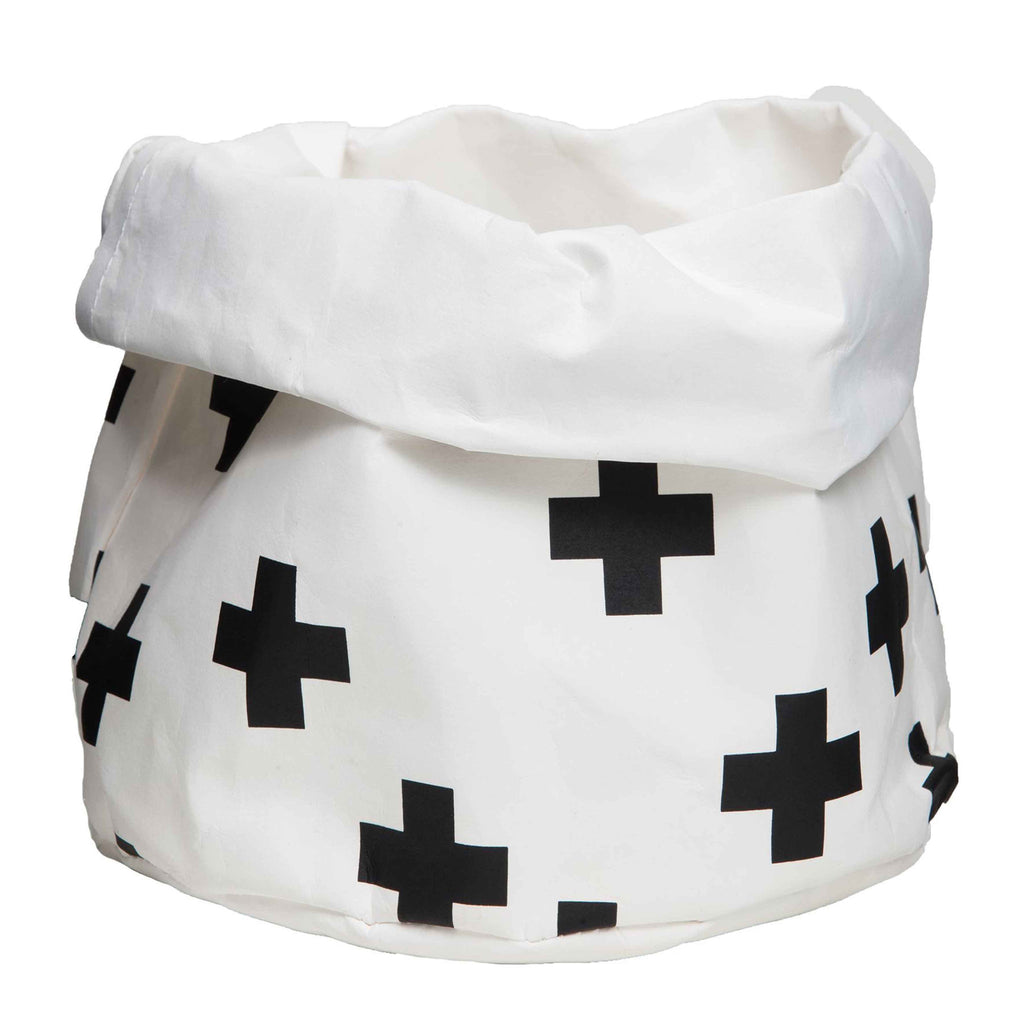 Wash Paper Bag Black Cross (Med)