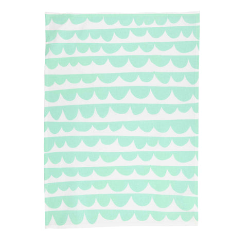 Tea Towel (Scalloped Mint)