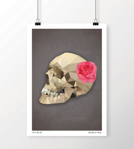 LoCo Graphic Design Print 'Skull Rose' A4