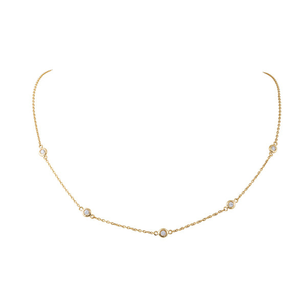 5 Diamond Ecliptic Choker
