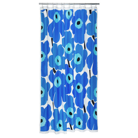 Marimekko Unikko Shower Curtain Blue