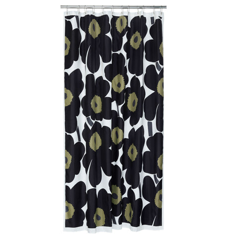 Marimekko Unikko Shower Curtain Black