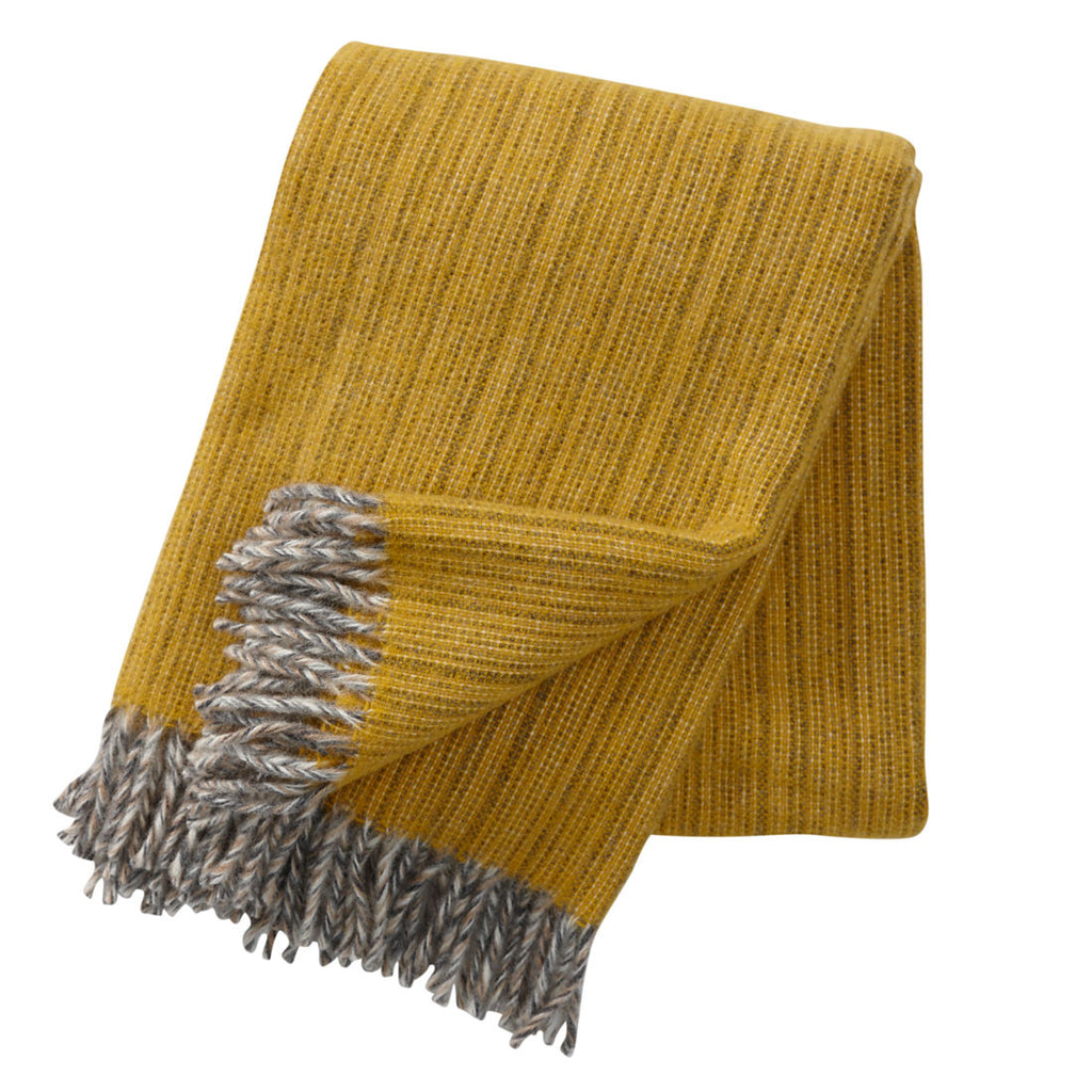Klippan Bjork Wool Throw Yellow