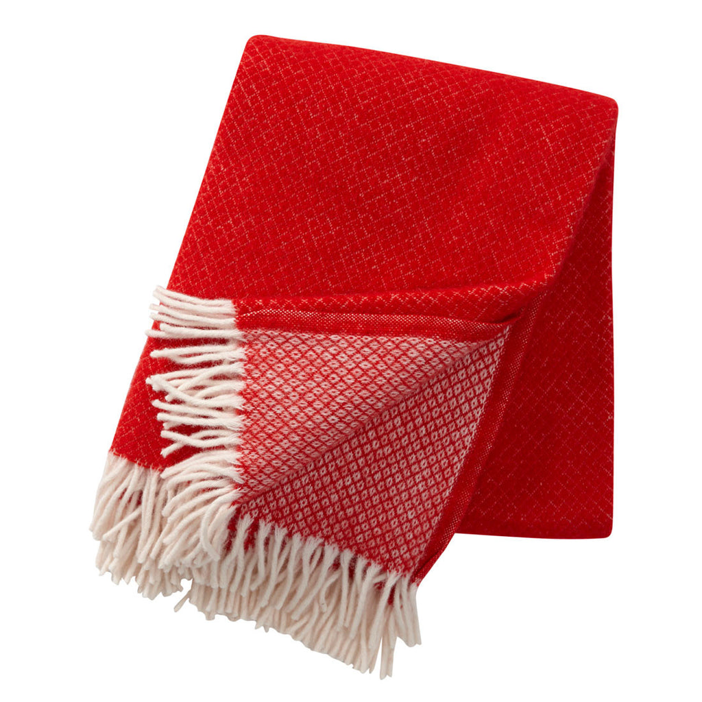 Klippan Vega Wool Throw Red SWEDEN