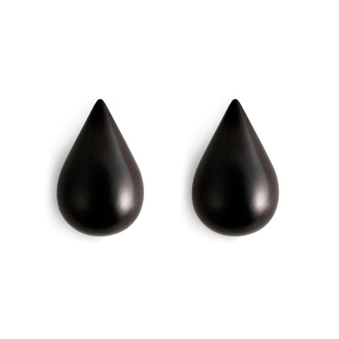 Normann Copenhagen Dropit Hooks Small Black 2pcs