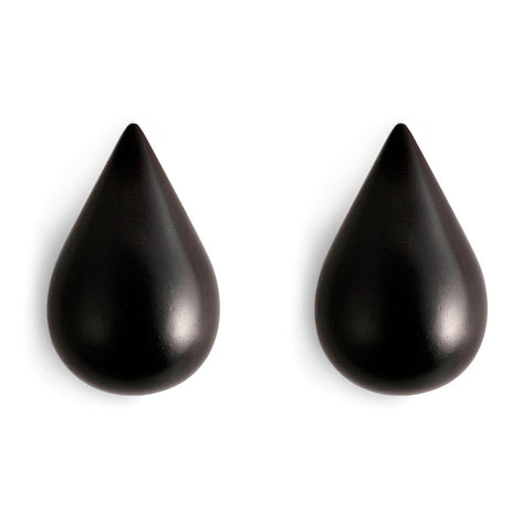 Normann Copenhagen Dropit Hooks Large Black 2pcs