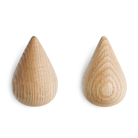 Normann Copenhagen Dropit Hooks Large Natural 2pcs