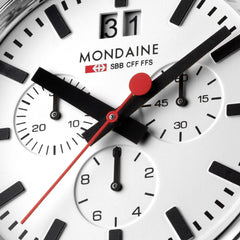 Mondaine Mens A690.30304.11SBB Sport Chronograph Watch Detail