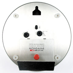 Mondaine A993.MCAL.16SBB Table & Wall Clock Rear View