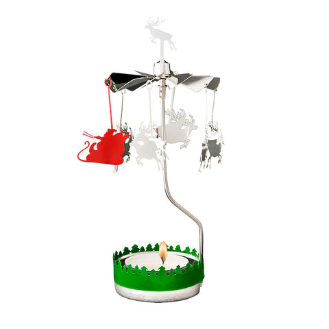 Pluto Santa Sleigh Rotary Tea Light Holder