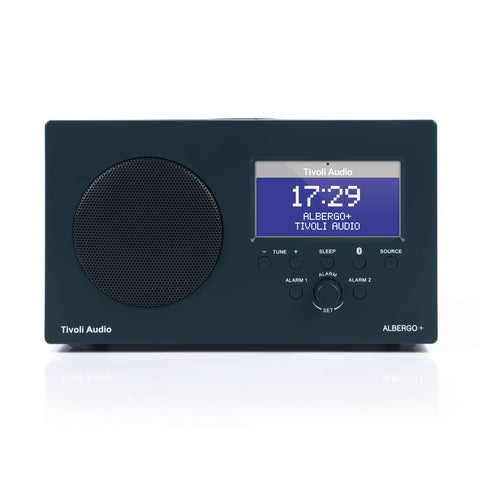 Tivoli Albergo+ FM/DAB+ Clock Radio with Bluetooth Graphite
