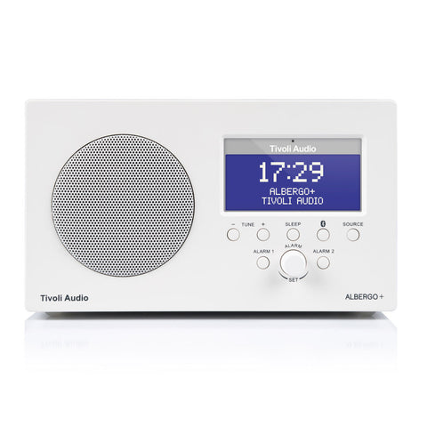 Tivoli Albergo+ FM/DAB+Clock Radio with Bluetooth White