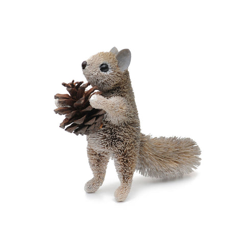 Squirrel Grey Standing made from bristle