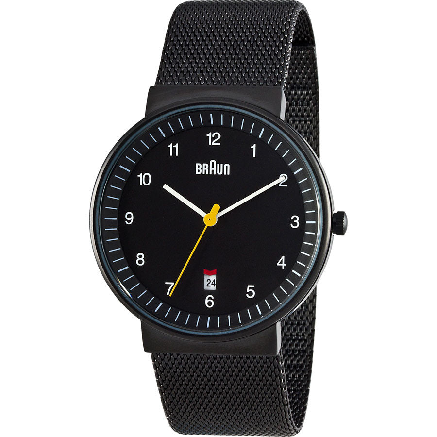 Braun Mens BN0032BKBKMHG Date Watch