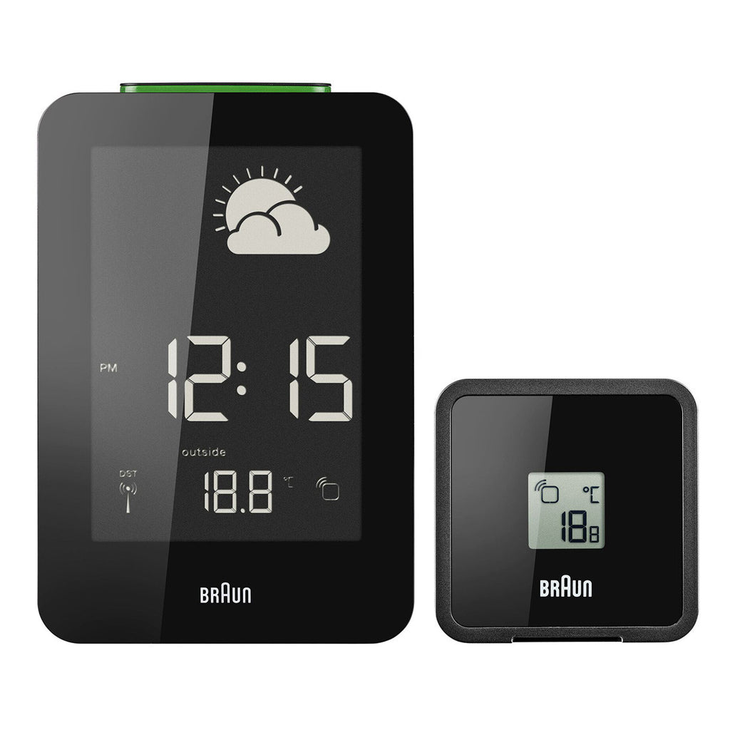 Braun BNC013 Digital Weather Station Clock Black
