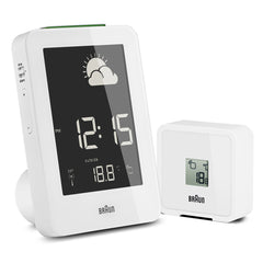 Braun BNC013 Digital Weather Station Clock White