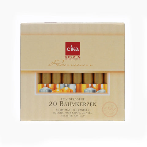 Eika Tree Candle Gold Box of 20