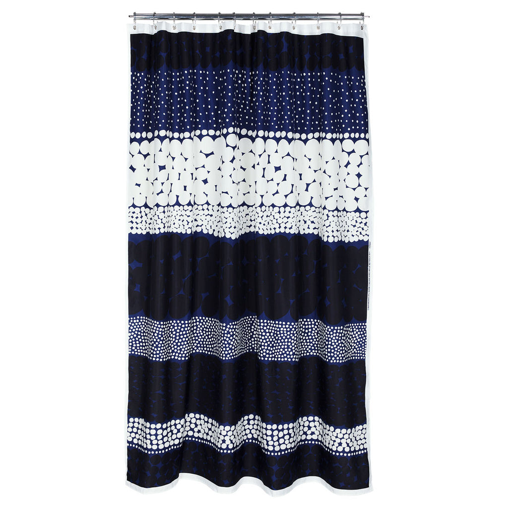 Marimekko Jurmo Shower Curtain Blue White