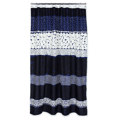 Marimekko Jurmo Shower Curtain Blue/White