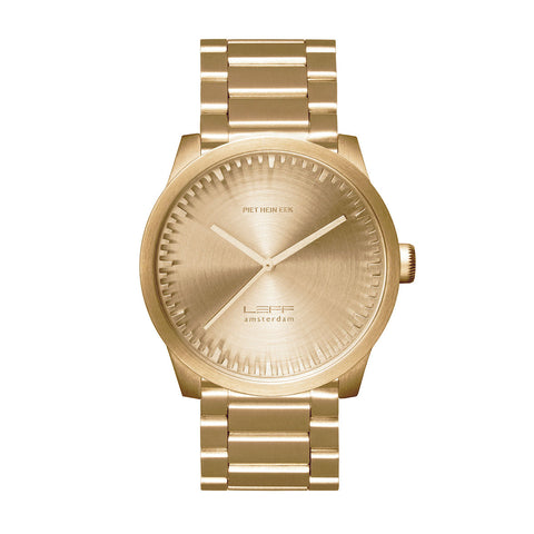 Leff Amsterdam LT72103 Tube Watch S42 Brass