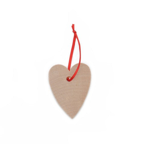 Heart Hanging Natural Wood Small
