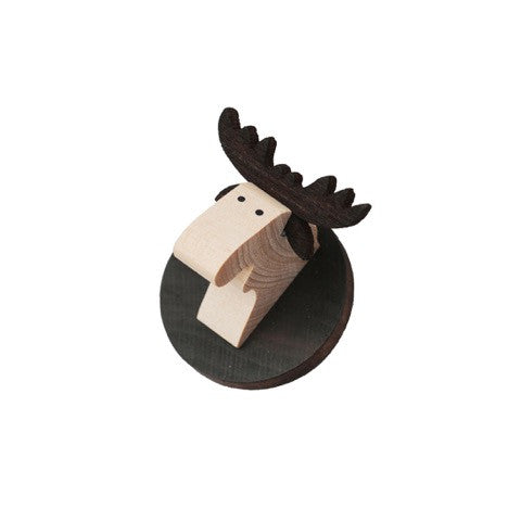 Moose Head Magnet Brown