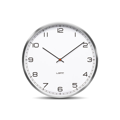 Leff LT10011 One 25 White Arabic Clock