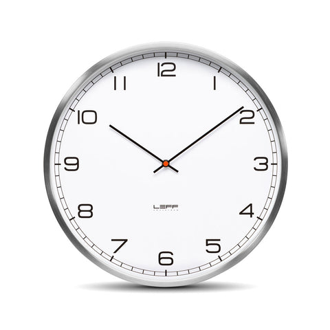 Leff LT10012 One 35 White Arabic Clock