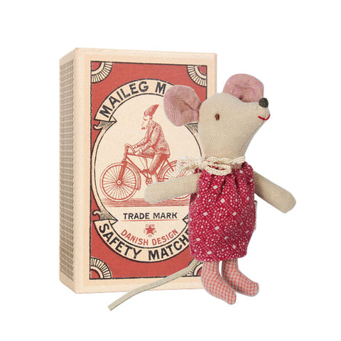 Maileg Little Sister Mouse in Box Christmas