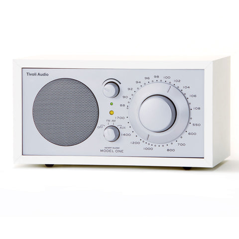 Tivoli Model 1 Radio AM/FM White/Silver