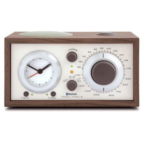 Tivoli Model 3 AM/FM Bluetooth Table Radio with Clock Classic Walnut