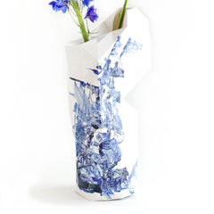 Paper Vase Cover Delft Blue Icons Detail