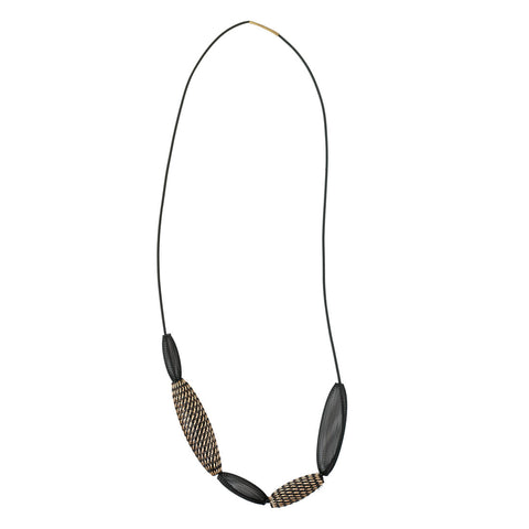 Sophia Emmett Entwined Reflective Mesh Necklace Loop Bronze