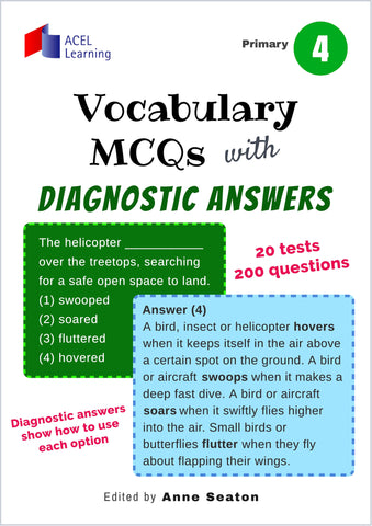 Vocabulary MCQs with Diagnostic Answers Primary 4