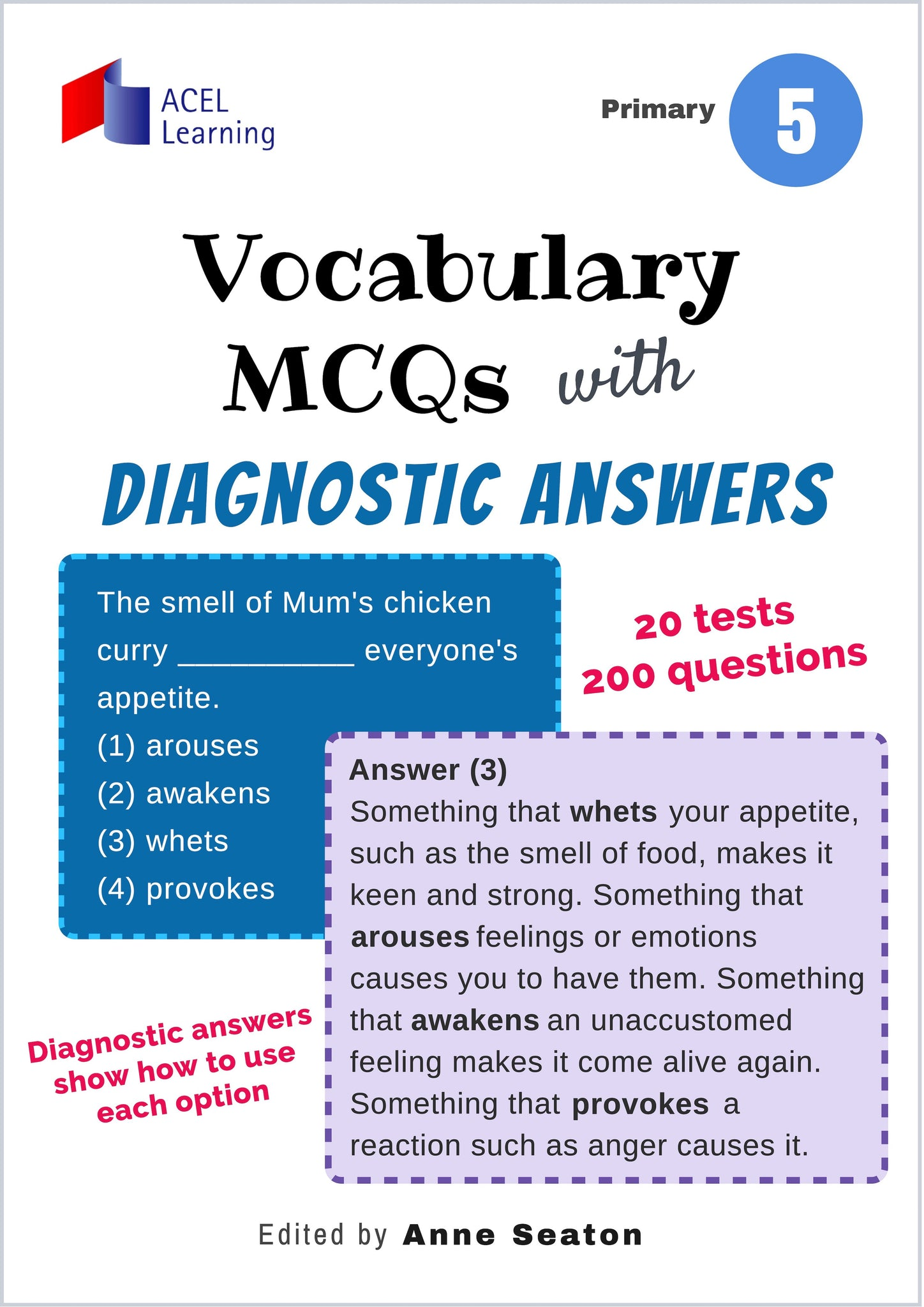 Vocabulary MCQs with Diagnostic Answers Primary 5