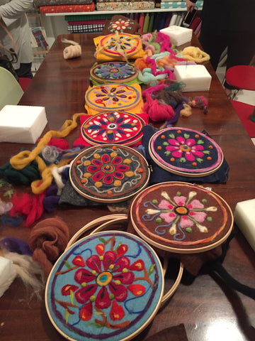 Needle Felted Mandala Workshop November 10