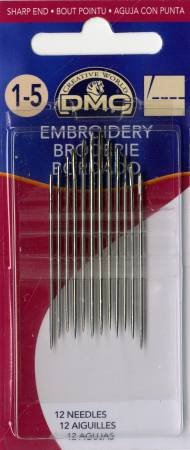 DMC Embroidery Crewel Needles No. 1-5