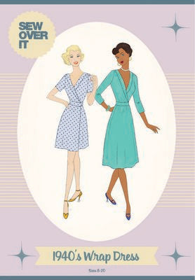 1940's Wrap Dress Sew Over It