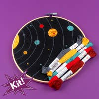 "Solar System 8"" Embroidery Kit Poplush"