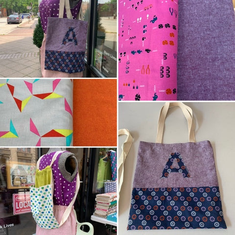 Virtual Week 5 July 6-10 Teen/Tween Bags Machine Sewing (11-15y) MORNINGS!